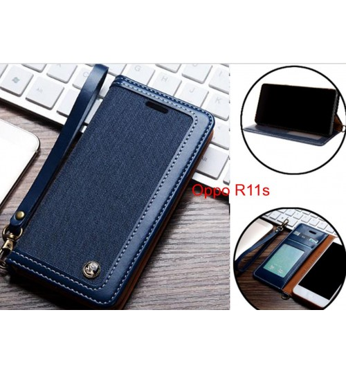 Oppo R11s Case Wallet Denim Leather Case