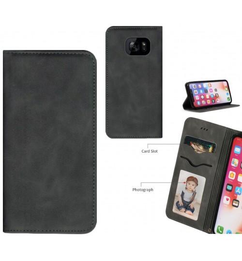 Galaxy S7 edge Case Premium Leather Magnetic Wallet Case