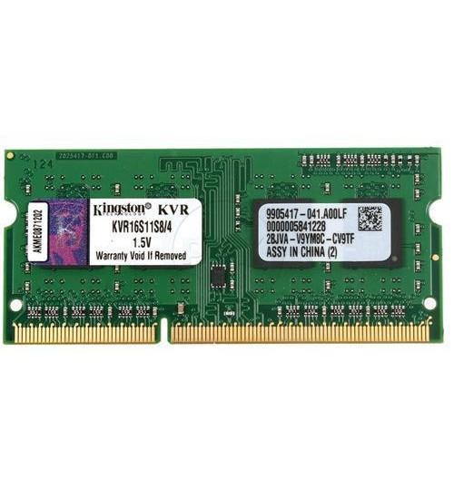 KINGSTON 4GB 1600MHZ DDR3 NON-ECC CL11 SODIMM SINGLE RANK X8