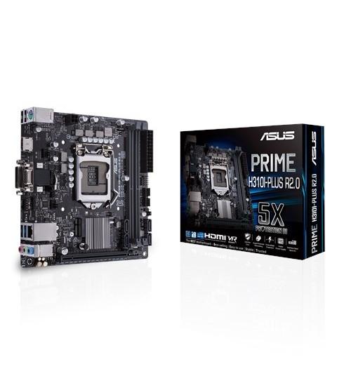 ASUS PRIME H310I-PLUS R2.0 INTEL H310 MINI-ITX COFFEE LAKE SOCKET 1151 2XDDR4-2666 PCI-E3.0 USB3.1 SATA3 M.2 HDMI/DVI-D/VGA