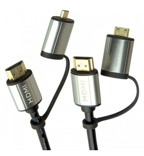 LASER 1.8M 4K MINI TO FULL HDMI CABLE
