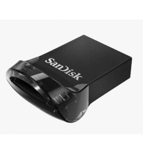 SANDISK ULTRA FIT USB 3.1 FLASH DRIVE CZ430 64GB USB3.1 BLACK PLUG & STAY 5Y