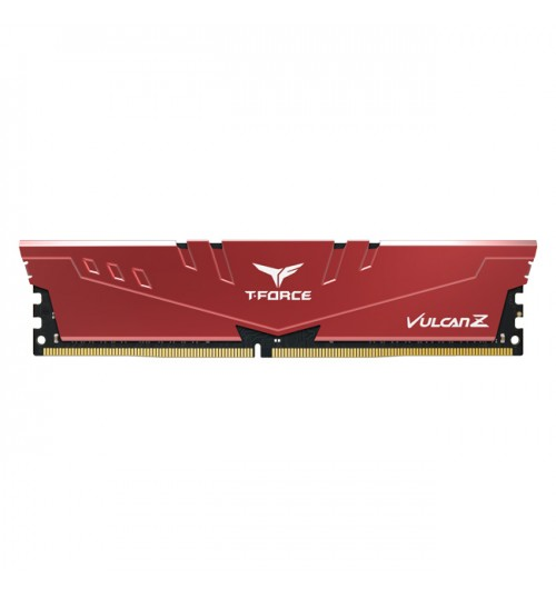 TEAM T-FORCE VULCAN Z 16GB (2 X 8GB) 2666 DDR4 GAMING MEMORY WITH RED HEAT SINK