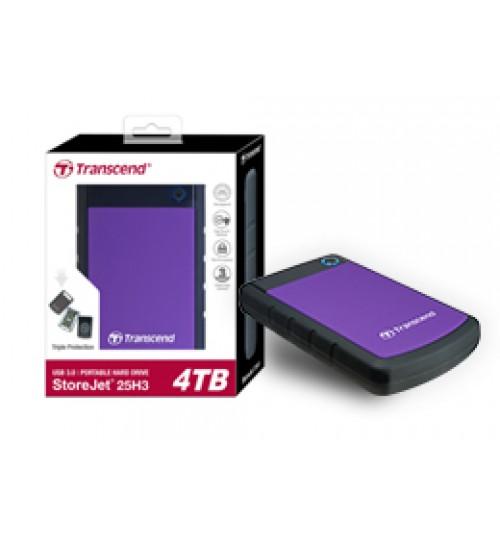 TRANSCEND STOREJET 25H3 2.5 INCH USB 3.0 EXTRA-RUGGED 4TB EXTERNAL HARD DISK DRIVE