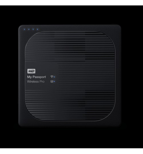 WD MY PASSPORT WIRELESS PRO 2TB USB 3.0 EXTERNAL HDD BLACK
