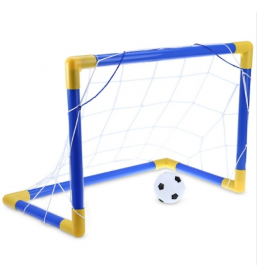 Mini Football Soccer Goal Post Net Set