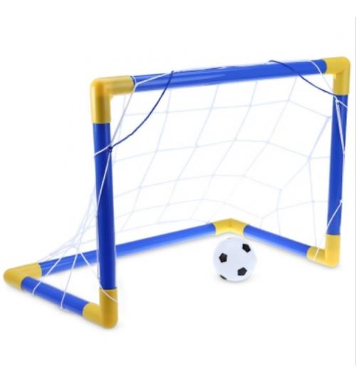 Mini Football Soccer Goal Post Net Set - Large