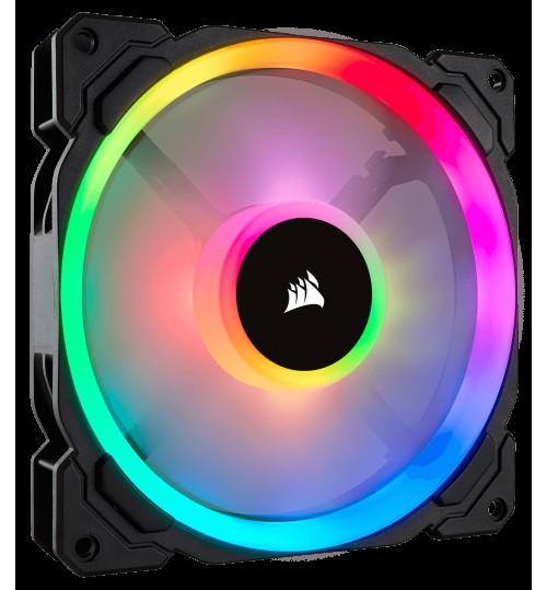 CORSAIR LL SERIES LL140 RGB 140MM DUAL LIGHT LOOP RGB LED PWM FAN SINGLE PACK