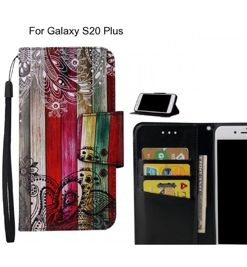 Galaxy S20 Plus Case wallet fine leather case printed