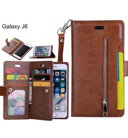 Galaxy J6 Case Wallet Leather Case With Zip