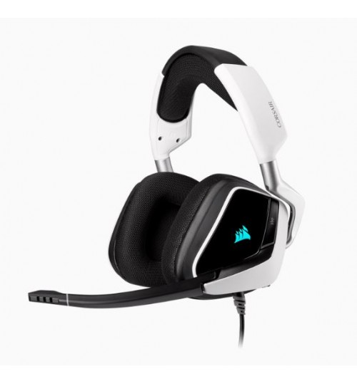 CORSAIR VOID RGB ELITE USB PREMIUM GAMING HEADSET WITH 7.1 SURROUND SOUND - WHITE