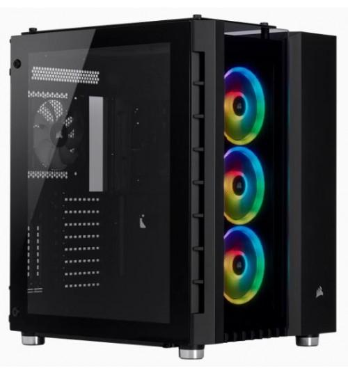 CORSAIR CRYSTAL SERIES 680X RGB HIGH AIRFLOW TEMPERED GLASS ATX CASE - BLACK