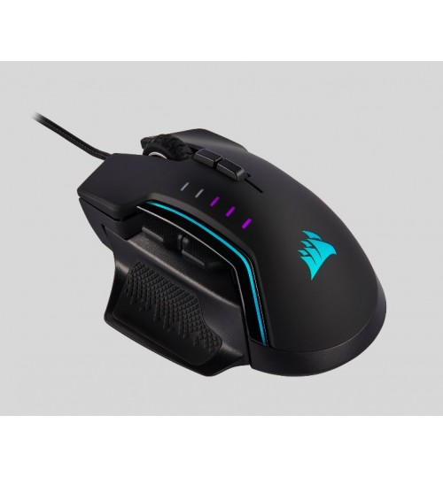 CORSAIR GLAIVE RGB PRO 18000 DPI OPTICAL GAMING MOUSE WITH INTERCHANGEABLE GRIP - BLACK