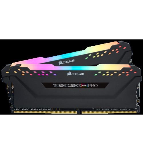 CORSAIR CMW32GX4M2D3600C18 DDR4 3600MHZ 32GB 2 X 288 DIMM UNBUFFERED 18-22-22-42 VENGEANCE RGB PRO  HEAT SPREADER RGB LED 1.35V XMP 2.0