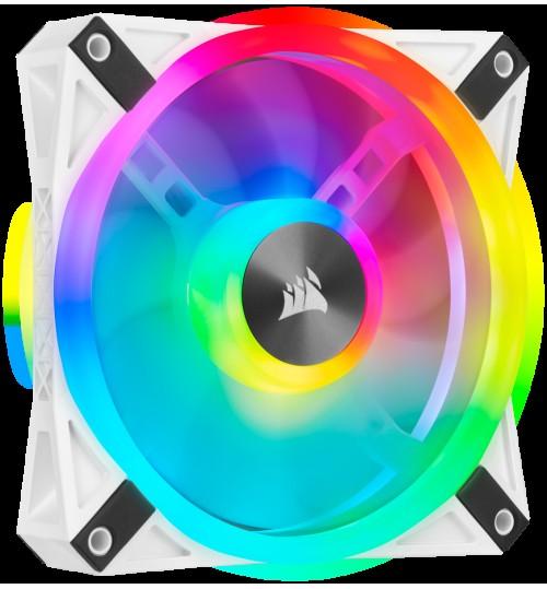 CORSAIR QL120 RGB 120MM RGB LED FAN SINGLE PACK - WHITE BODY