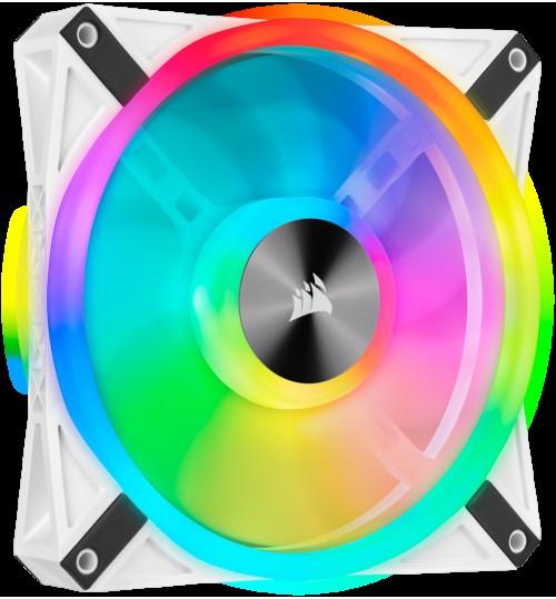 CORSAIR QL140 RGB 140MM RGB LED FAN SINGLE PACK - WHITE BODY