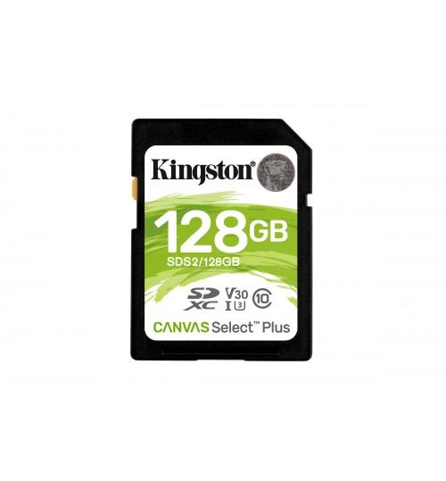 KINGSTON 128GB CANVAS SELECT PLUS UHS-I SDXC MEMORY CARD