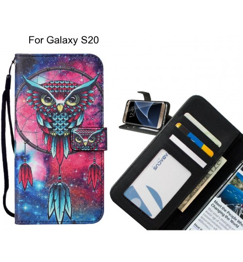 Galaxy S20 case leather wallet case printed ID