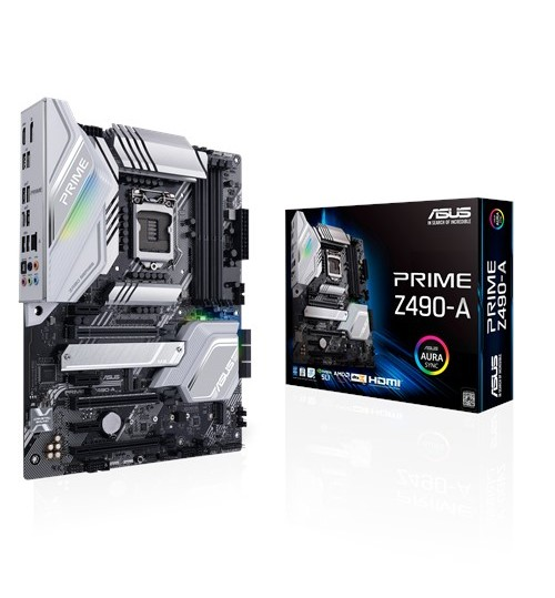ASUS PRIME Z490-A INTEL Z490 (LGA 1200) ATX 4XDDR4-4600 MHz PCI-E3.0 USB3.2 M.2 RAID HDMI/DISPLAY PORT