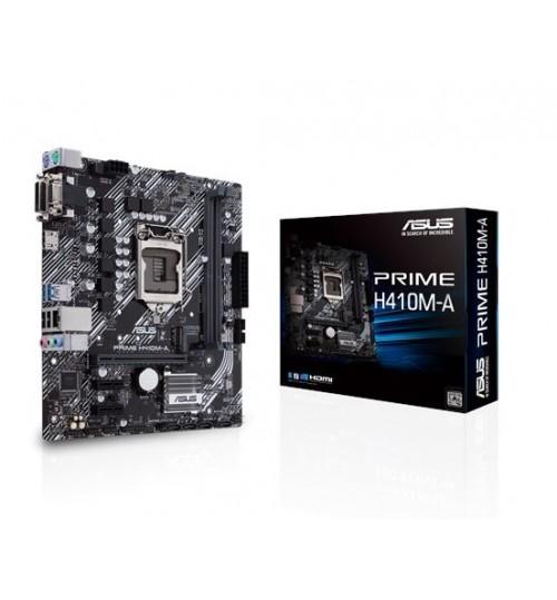 ASUS PRIME H410M-A INTEL B410 (LGA 1200) M-ATX 2XDDR4-2933 MHz PCI-E3.0 USB3.2 M.2 VGA/DVI-D/HDMI PORT