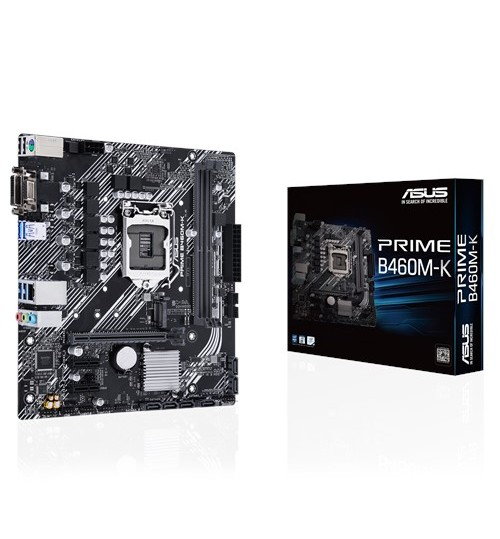 ASUS PRIME B460M-K INTEL B460 (LGA 1200) M-ATX 2XDDR4-2933 MHz PCI-E3.0 USB3.2 M.2 RAID VGA/DVI-D PORT