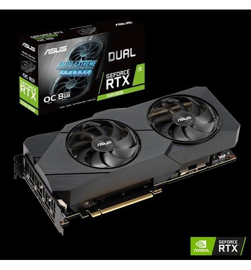 ASUS DUAL-RTX2080S-O8G-EVO-V2 DUAL GEFORCE RTX2080 SUPER EVO V2 OVERCLOCKED 8GB GDDR6 PCI-E3.0 HDMI DISPLAY PORT
