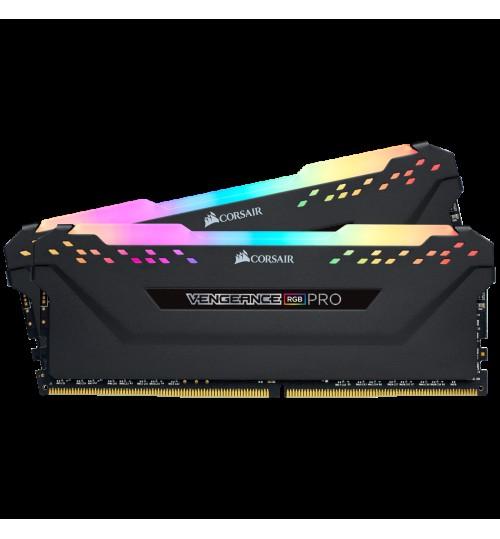 CORSAIR CMW16GX4M2Z3600C18 DDR4 3600MHZ 16GB 2X 288 DIMM UNBUFFERED 18-22-22-42 VENGEANCE RGB PRO BLACK HEAT SPREADER1.35V XMP 2.0FOR AMD RYZEN