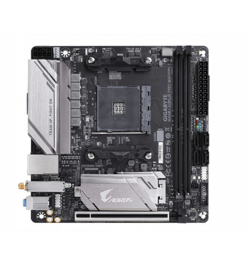 GIGABYTE GA-B450I AORUS PRO WIFI MINI ITX AMD B450 CHIPSET FOR AMD RYZEN 2 ND GEN AM4 2 X DDR4 DIMM M.2 4X SATA WIRELESS AC+BT GIGA LAN