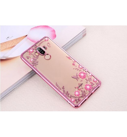 Huawei MATE 7  case soft gel tpu case luxury bling shiny floral case