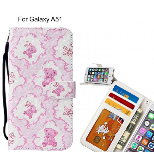 Galaxy A51 case leather wallet case printed ID