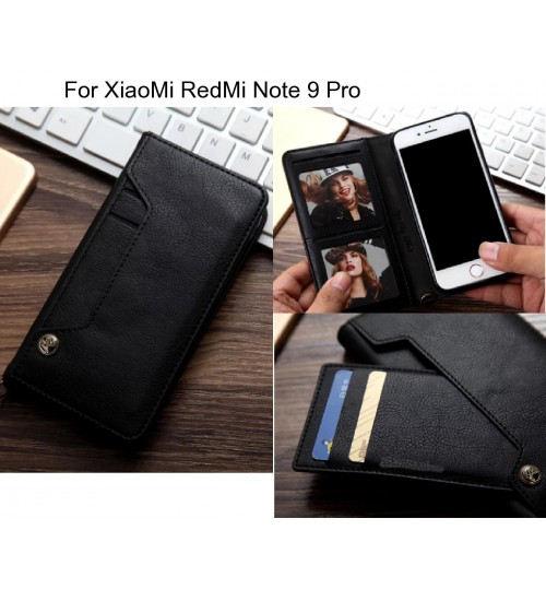 XiaoMi RedMi Note 9 Pro case slim leather wallet case 6 cards 2 ID magnet