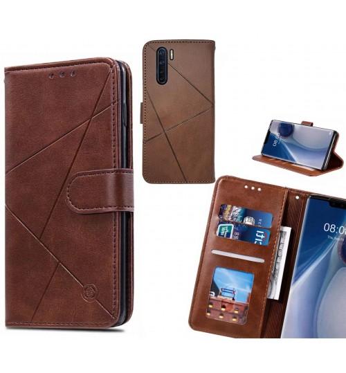 Oppo A91 Case Fine Leather Wallet Case