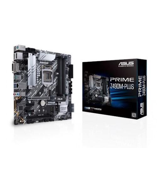 ASUS PRIME Z490M-PLUS Z490 (LGA 1200) M-ATX 4XDDR4-4400 MHz PCI-E3.0 USB3.2 M.2 RAID DVI-D/HDMI/DISPLAY PORT