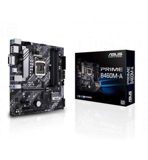 ASUS PRIME B460M-A INTEL B460 (LGA 1200) M-ATX 4XDDR4-2933 MHz PCI-E3.0 USB3.2 M.2 RAID DVI-D/HDMI/DISPLAY PORT