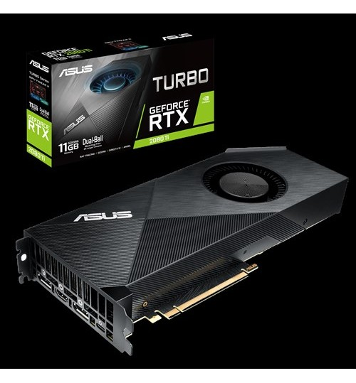 ASUS TURBO-RTX2080TI-11G TURBO GEFORCE RTX 2080TI 11GB GDDR6 PCI-E 3.0 HDMI DISPLAY PORT
