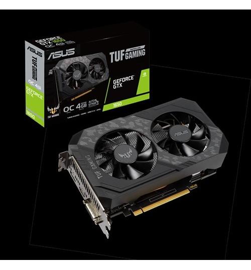 ASUS TUF-GTX1650-O4GD6-GAMING TUF GAMING GEFORCE GTX1650 OVERCLOCKED 4GB GDDR6 PCI-E3.0 DVI-D HDMI DISPLAY PORT