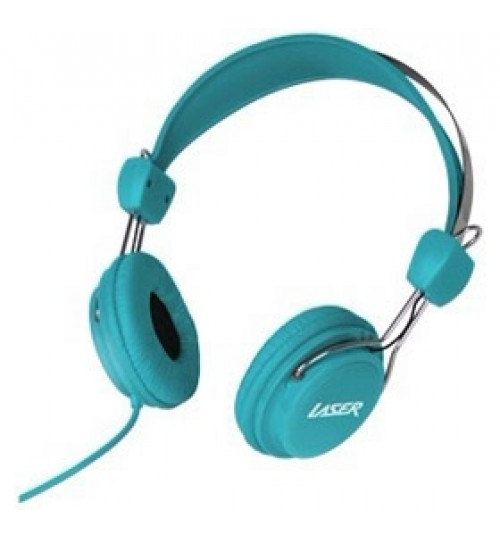 LASER KIDS HEADPHONES WITH VOLUME LIMIT - BLUE