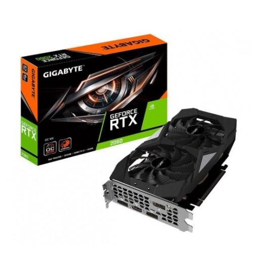 GIGABYTE (GV-N2060OC-6GD) GEFORCE RTX2060 OC VIDEO GRAPHICS CARD UHD 8K (7680X4320) 6GB GDDR6 VR READY G-SYNC 1XHDMI 3XDISPLAYPORT 3 YEARS WAR