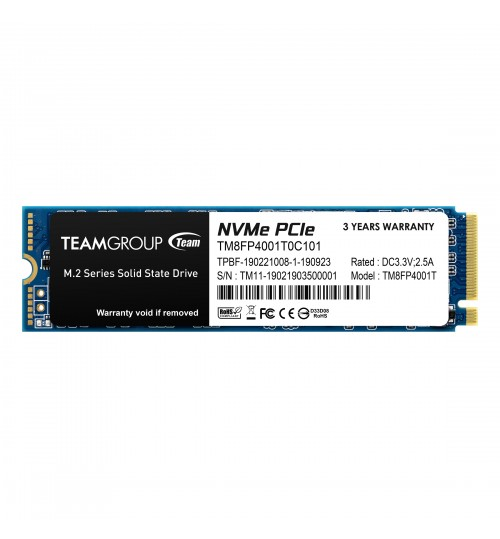 TEAM GROUP MP34 M.2 1TB NVME PCIE WITH DRAM SSD R/W3000MB/S / 2600MB/S