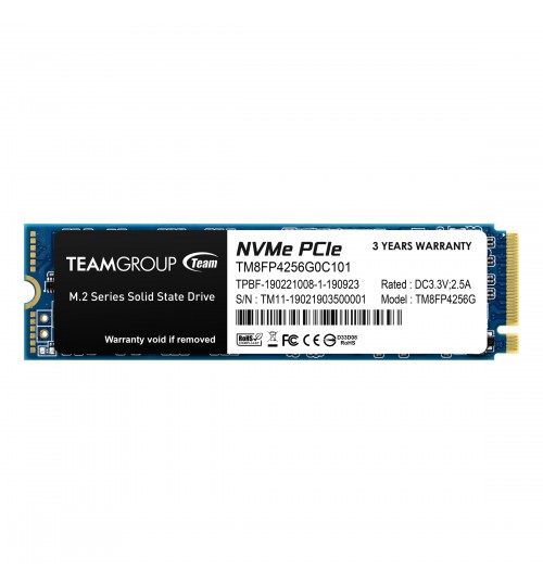 TEAM GROUP MP34 M.2 256B NVME PCIE WITH DRAM SSD R/W 2700/850 MB/s