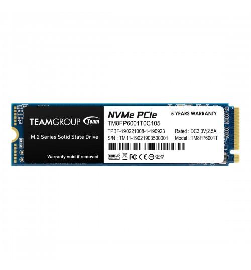TEAM MP33 M.2 2280 1TB PCIe 3.0 x4 with NVMe 1.3 3D NAND SSD R/W 1800/1500 MB/s