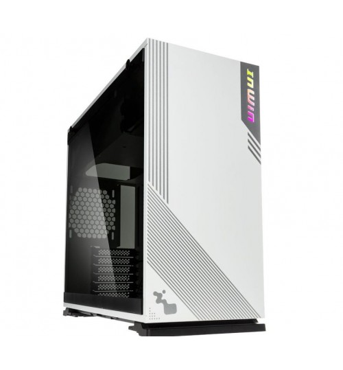 In Win 103 RGB Tempered Glass Mid-Tower ATX Case - White - 7x Expansion Slots - Supports 2x 3.5 & 2x 2.5 Drive Bays