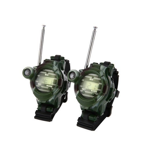 7 in 1 Walkie Talkie Watch Camouflage Style x2