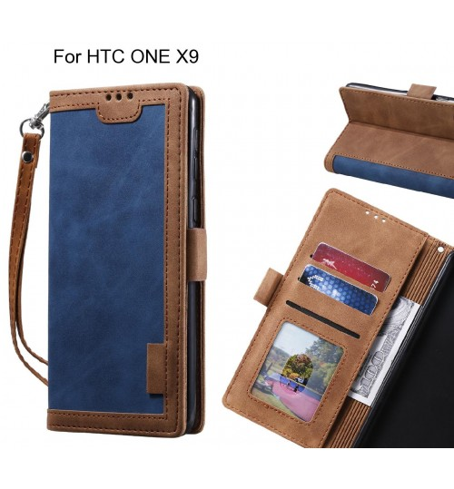 HTC ONE X9 Case Wallet Denim Leather Case Cover