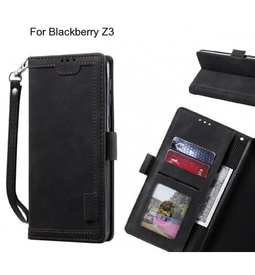 Blackberry Z3 Case Wallet Denim Leather Case Cover