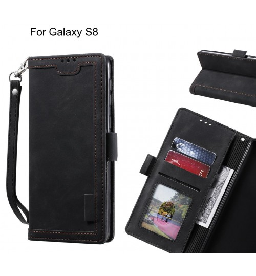 Galaxy S8 Case Wallet Denim Leather Case Cover