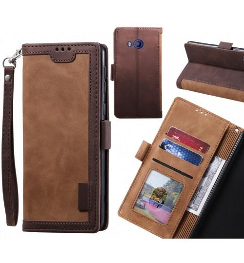 HTC U11 Case Wallet Denim Leather Case Cover