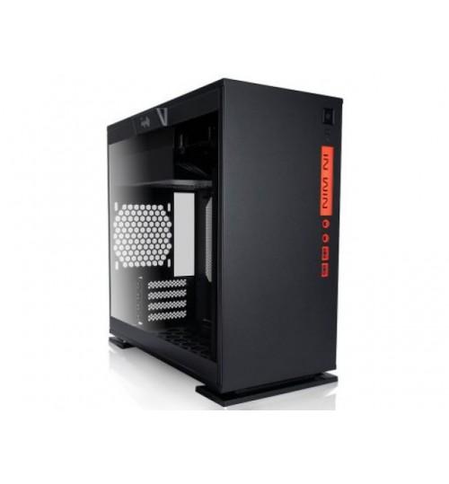 IN WIN 301 BLACK MICRO ATX CASE WINDOW TEMPERED GLASS NO PSU