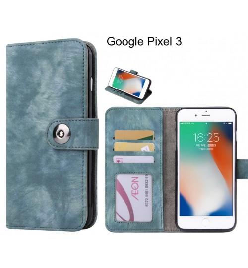 Google Pixel 3  case retro leather wallet case