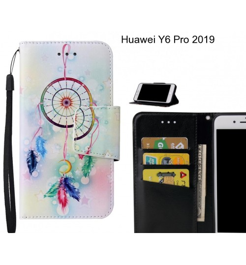 Huawei Y6 Pro 2019 Case wallet fine leather case printed